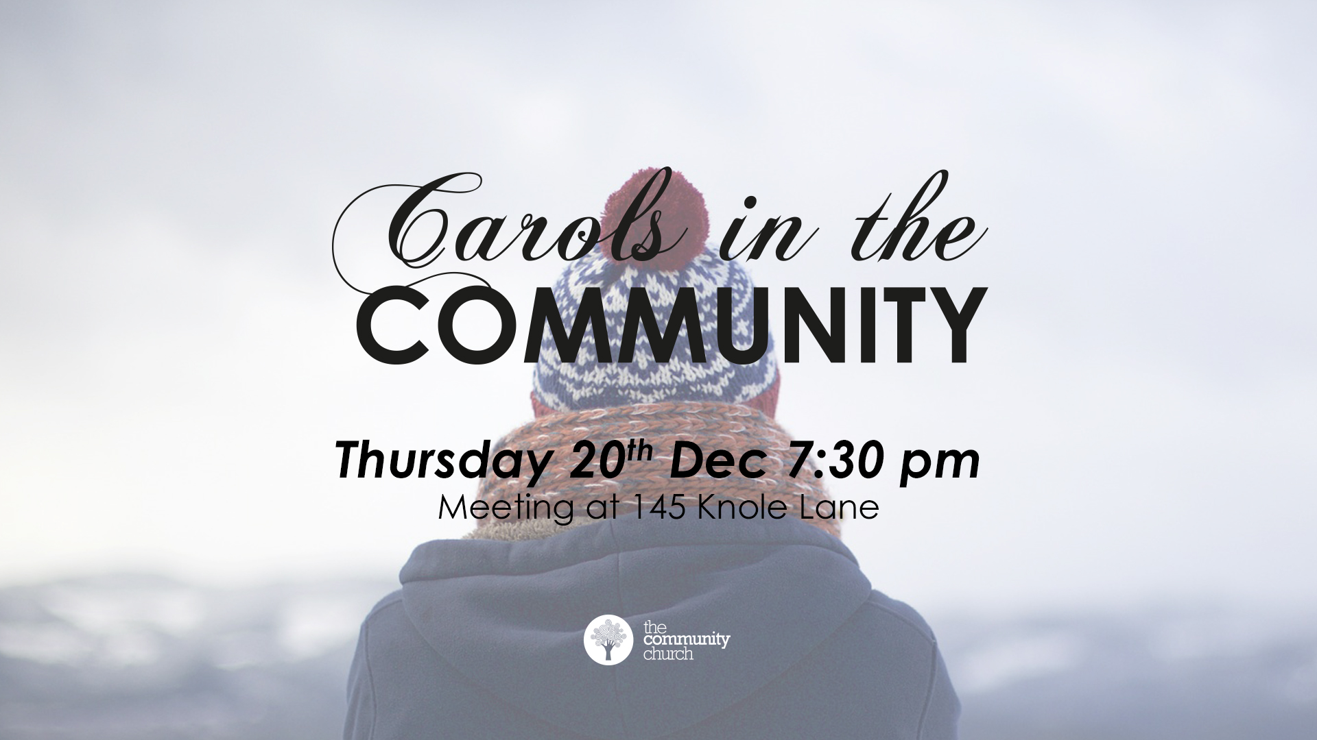 We'll be heading into Brentry community for carols and sharing the joys of the season!