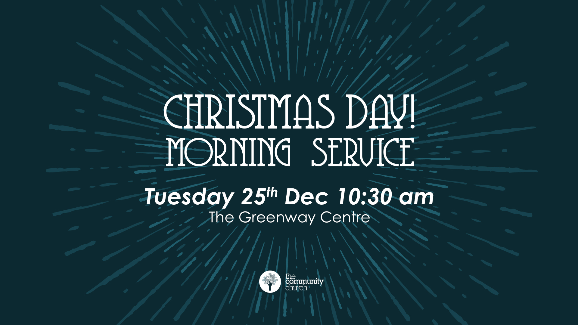 Join us for an hour to celebrate Christmas morning together, mince pies included.