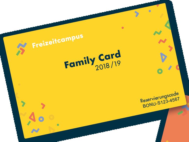Unsere Family Card - Bis zu 50% Extraguthaben