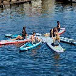 SUP Yoga Kurs - am Cospudener See mit der HTWK Leipzig