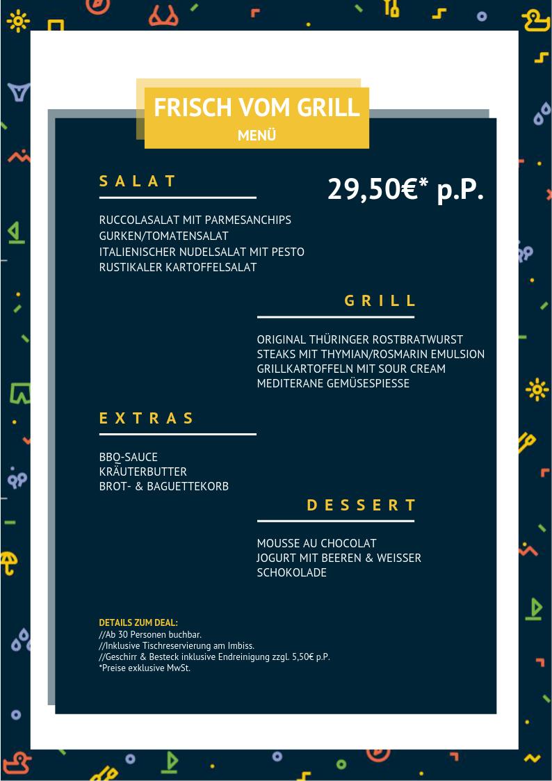 Frisch vom Grill (Menü)