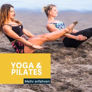 Yoga & Pilates auf dem Board und am Strand