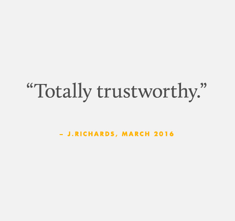 Totally trustworthy