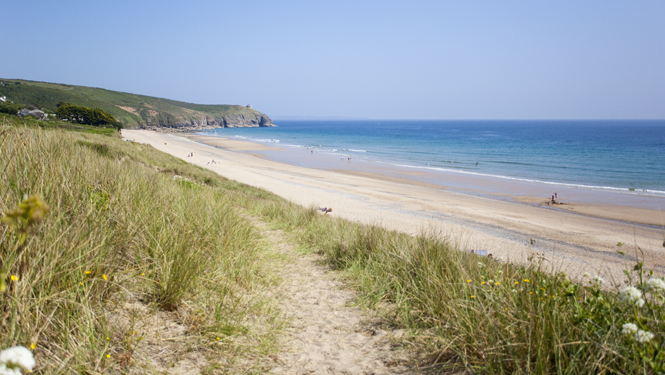 Beautiful Praa Sands... we're lucky enough to work all over Cornwall!
