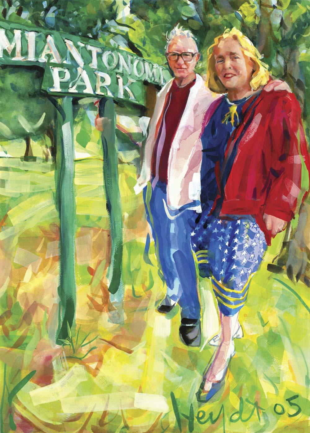 Ann and Jack Twomey, Miantonomi Park, Newport