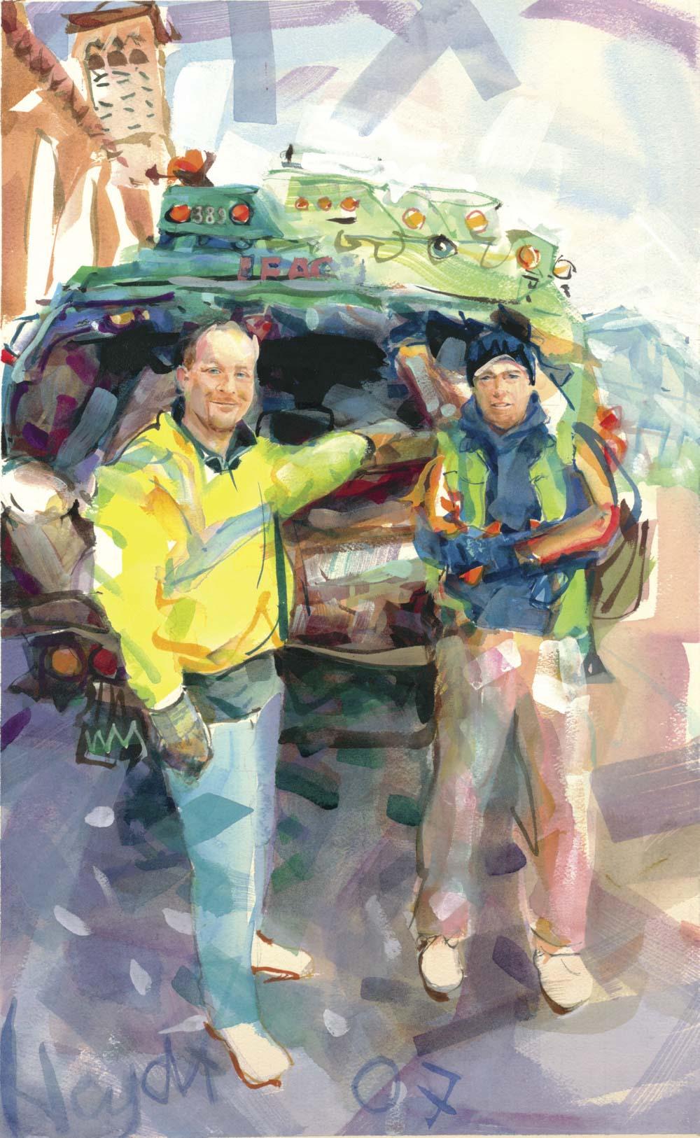 Brian Ingersall and Matt Flinn of Waste Management, Newport