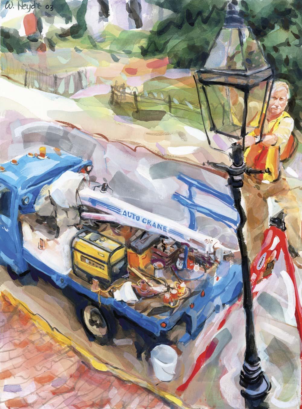 Brian Pelletier adds another gas lamp to Newport's historic Pelham Street