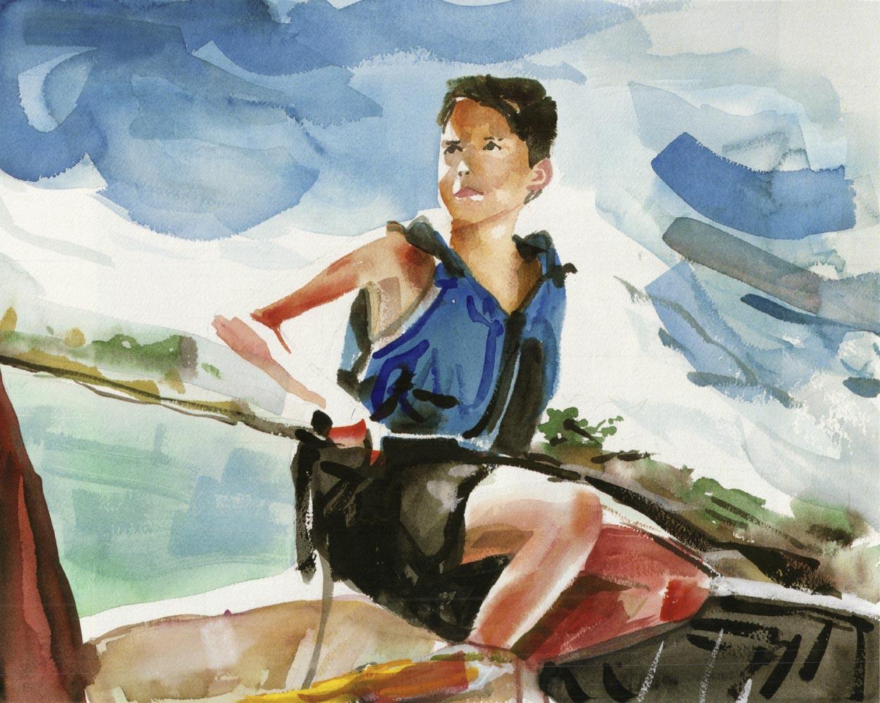 Eric sails Newport, Summer 1998