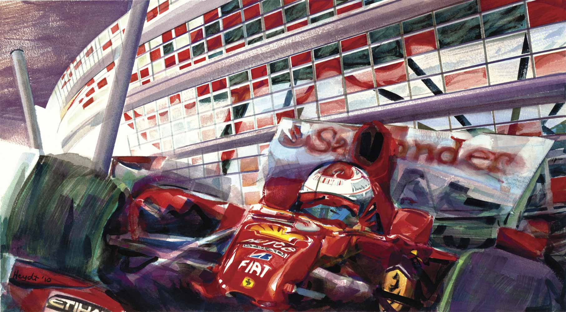 Ferrari on Abu Dhabi track
