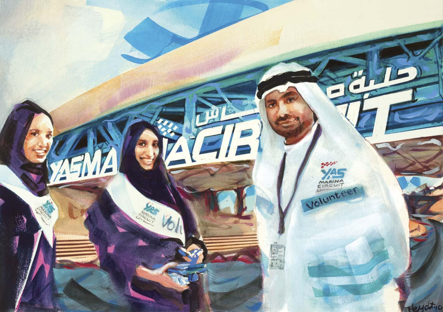 Formula One Volunteers in Abu Dhabi