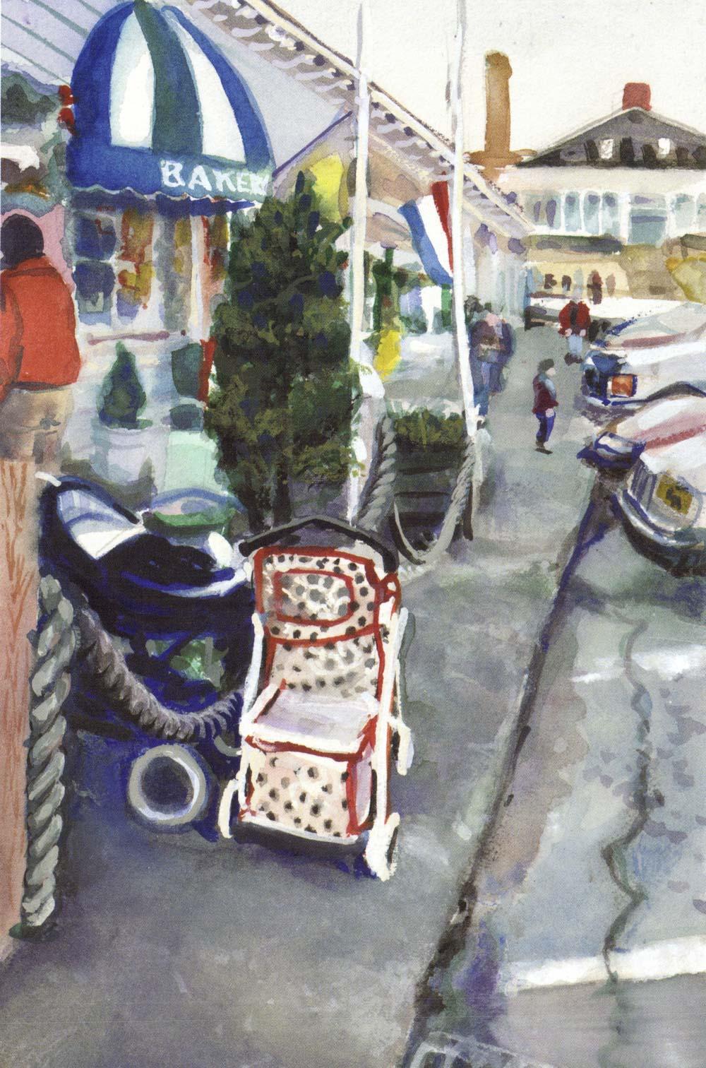 Jamestown waterfront, Fall 1997