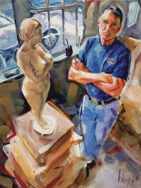 """John """"Fud"""" Benson in his Newport studio"""