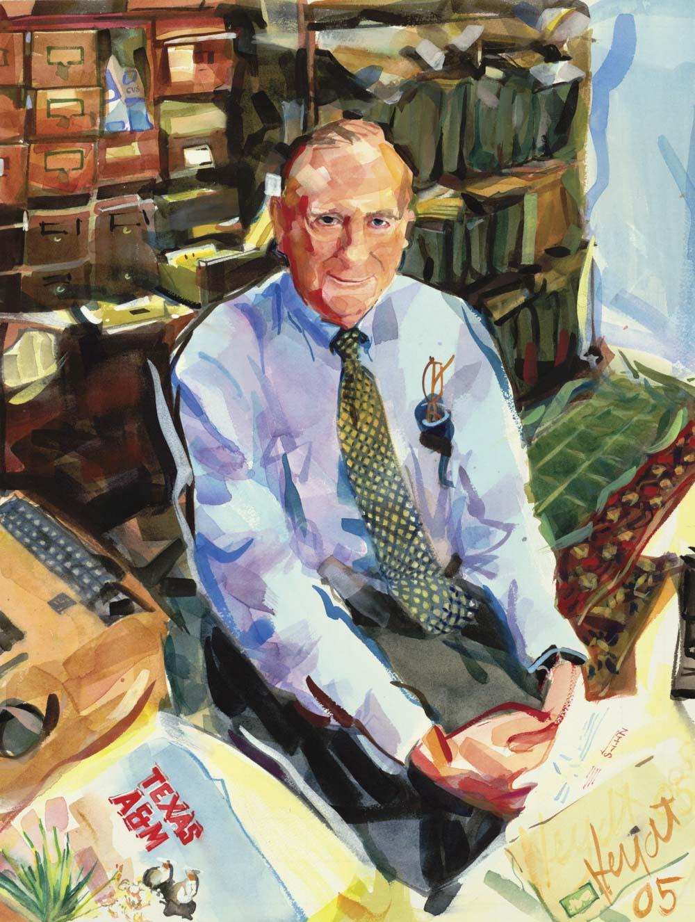 Leonard Panaggio at his desk in his Newport home