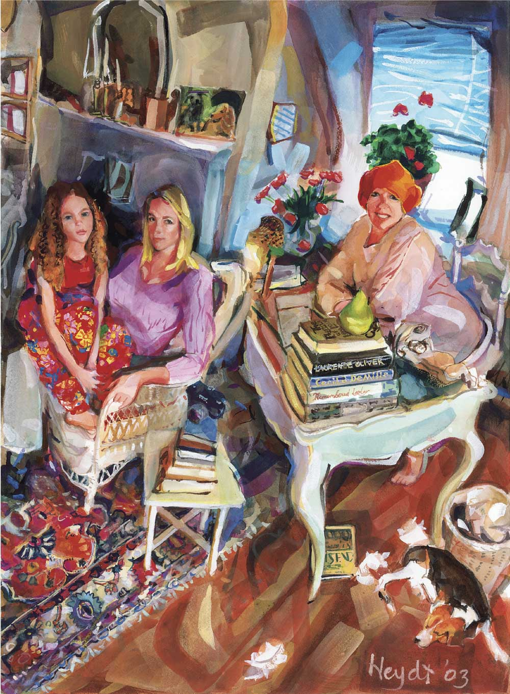 Maggie is that you? Maggie, Melanie and Ashlin-three generations of artists and divas