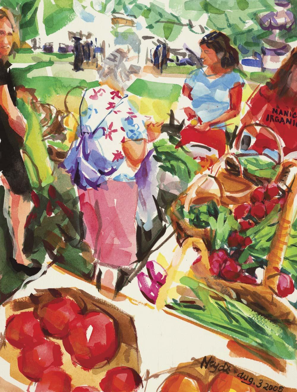 Memorial Boulevard Farmer's Market, Newport
