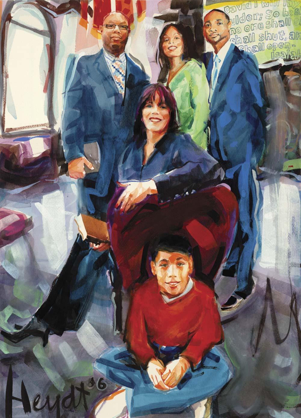 Pastors Steve & Mary Robinson with family