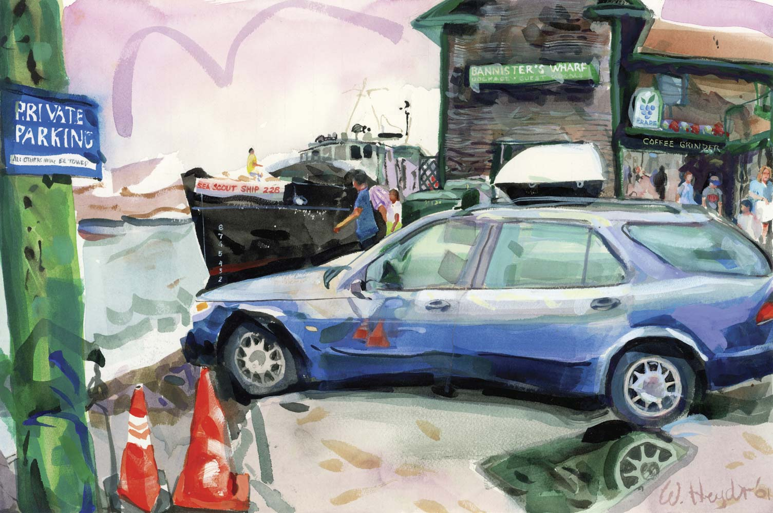 Private Parking, Bowen's Wharf