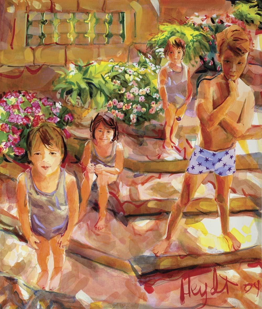 Rosie, Ying Ying, Buddha Boy and MIsha in Newport