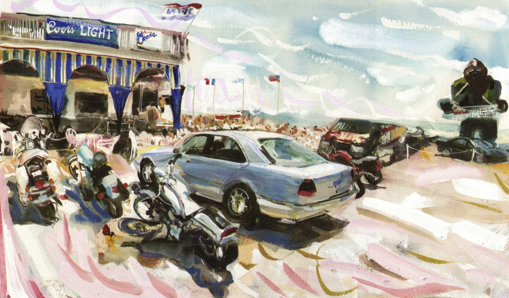 Scorching afternoon at The Atlantic Beach Club, Summer 1998 30.5 cm x 50 cm.jpg
