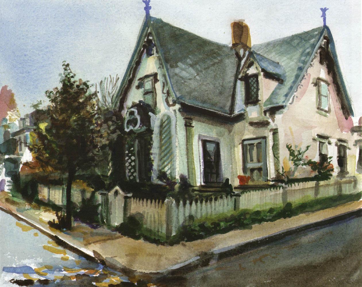 The Benjamin Marsh House, damp afternoon light, Fall 1997