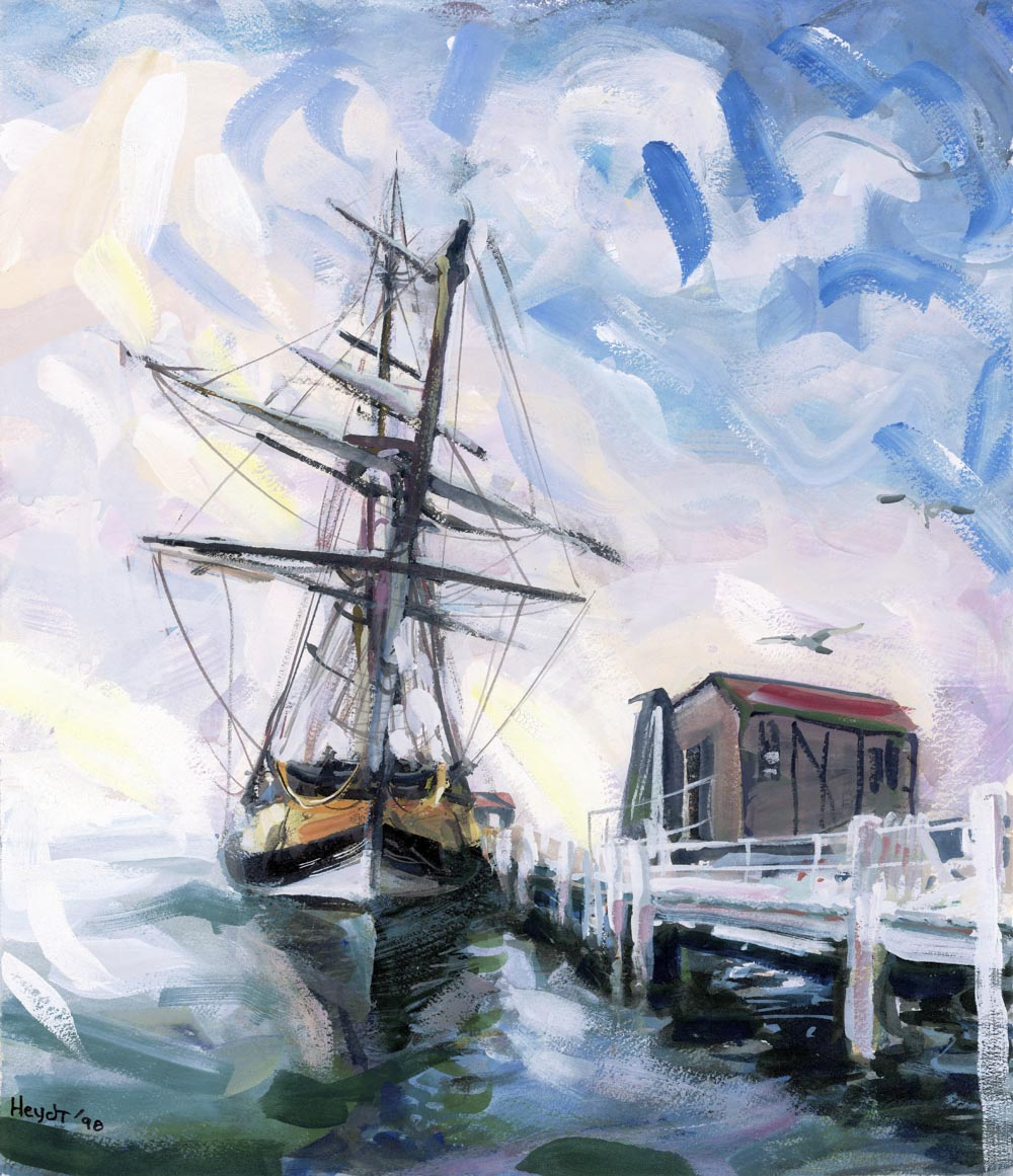 The Bounty visits Newport, Bannister's Wharf, Spring 1998