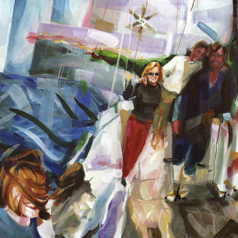 Windy sail on Star, Sam, Irene, Pearl and Steve, No. 2, Fall 1998