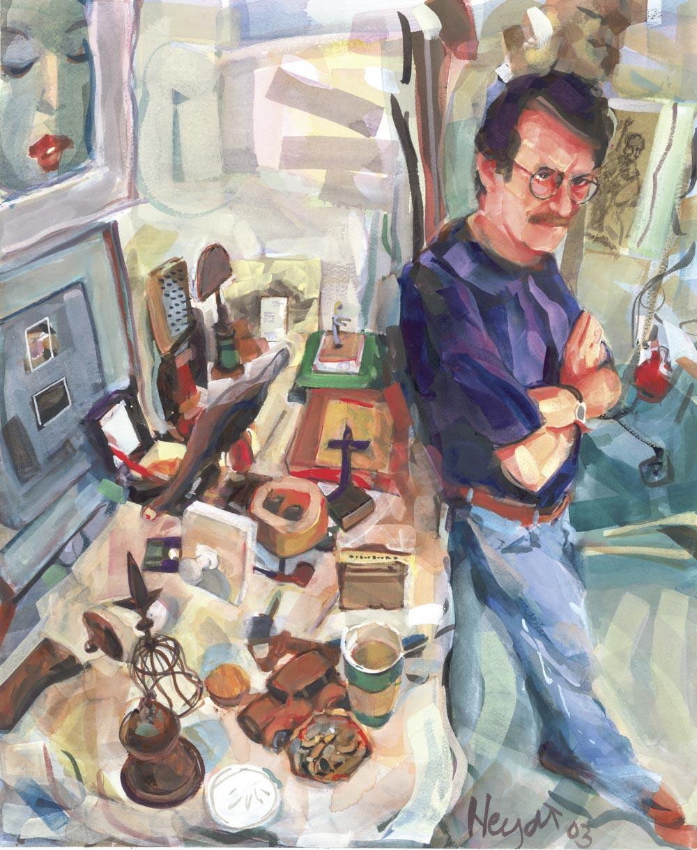 Ben Butler at home in his studio, Newport