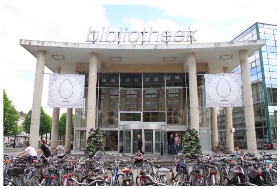 Ancien showroom d'appareils électriques, NEST est depuis juin 2017 un commun urbain de 6.000m2 et 6 étages situé au cœur de la ville de Gand.
