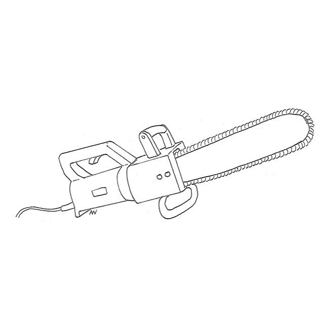 E: chainsaw; F: tronçonneuse f, scie (f) à chaine (f), 'Réxo' f; G: Kettensäge w