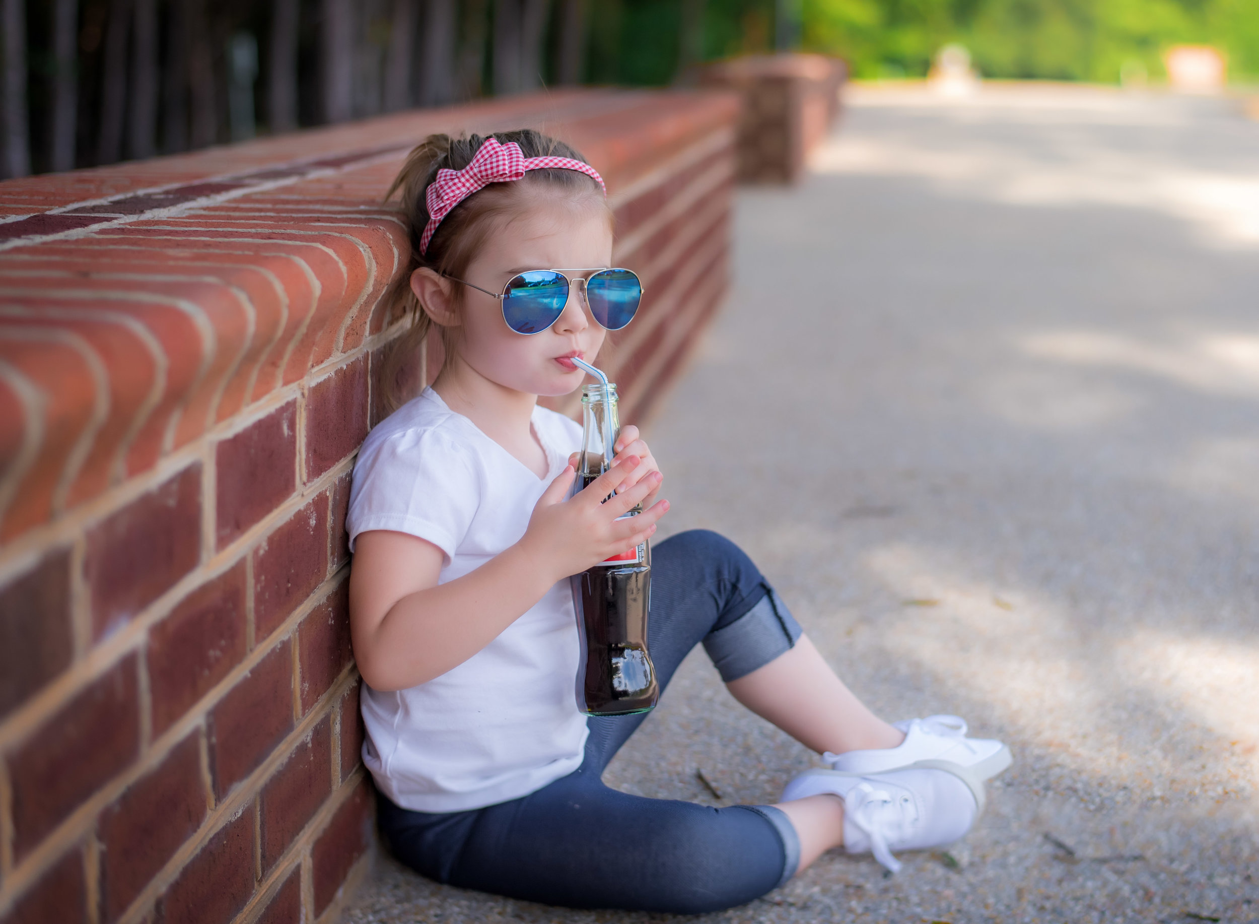 Vintage Theme Coca Cola 4th of July Portrait at crump park in henrico virginia