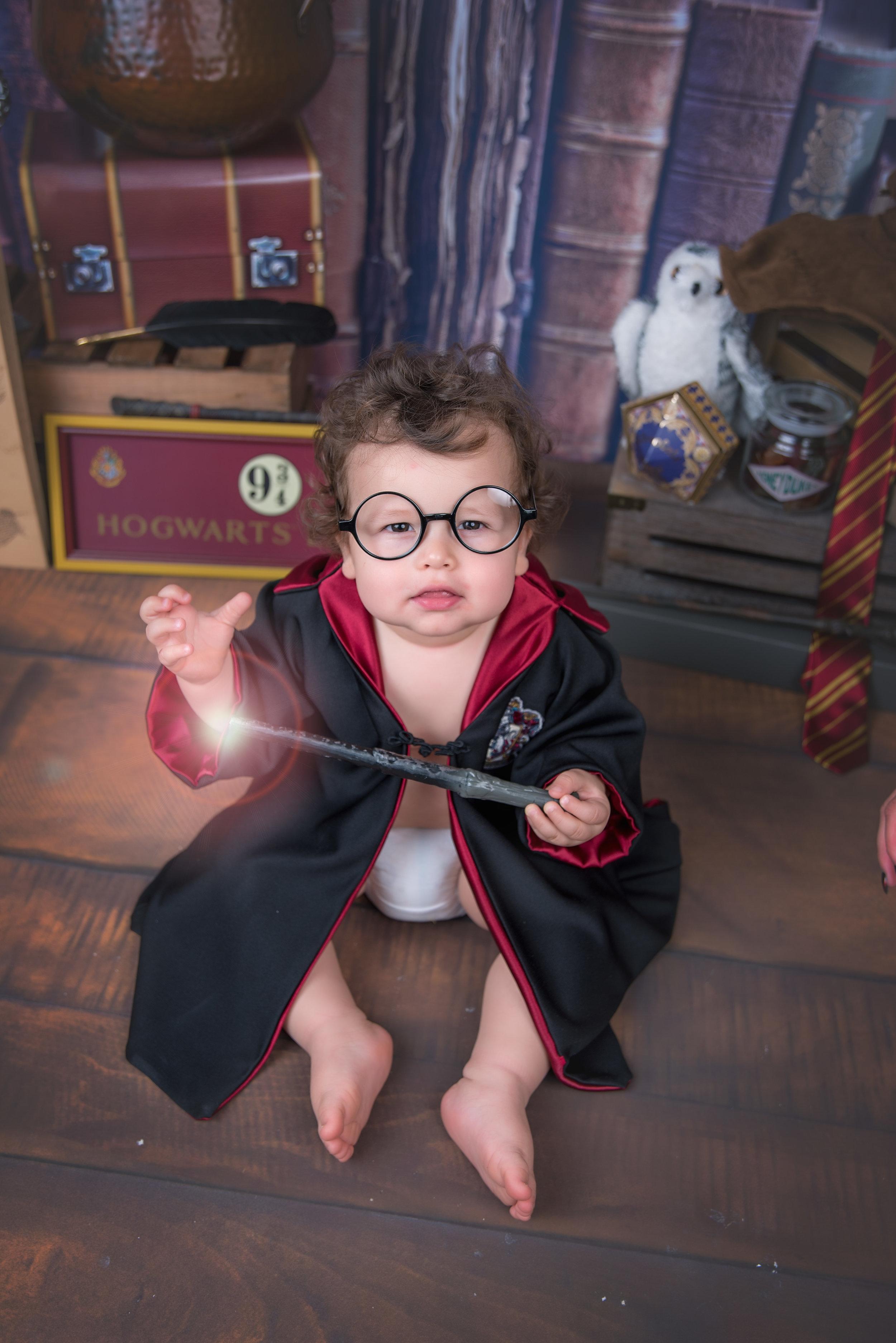 Harry POtter themed wizard cake smash