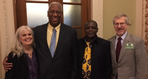 l to r, VIPCare Board President Frances Broaddus Crutchfield, Congressman A. Donald McEachin, The Rev. Dr. Jean Emile Ngue, and VIPCare Executive Director Douglas M. Thorpe.       Photo taken in Washington, D.C., on September 25, 2017,  following Congressman McEachin's reading of a citation in honor of VIPCare's 50th Anniversary.