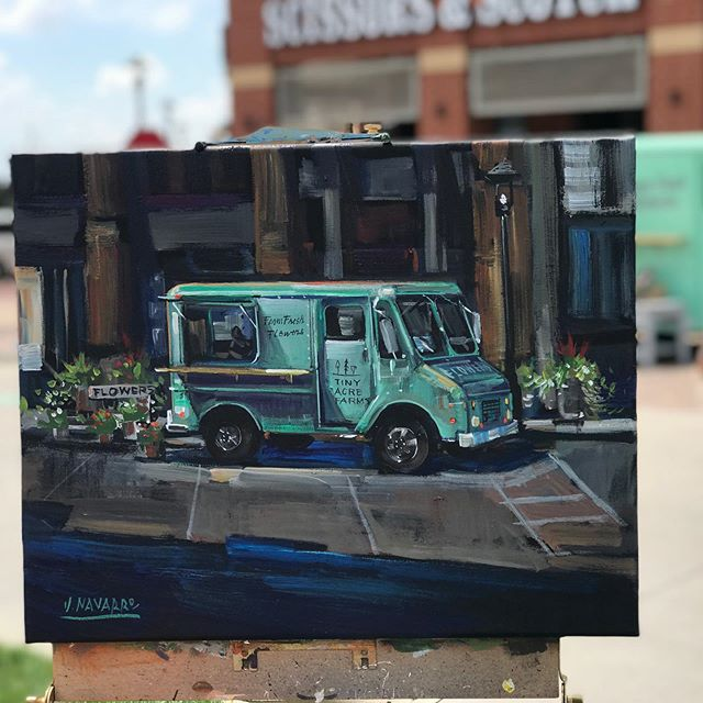 I hit the jackpot today at the Color My World event when @jimmynavarroart live painted my flower truck!! I couldn't let this one get away and am now the proud owner of this incredible piece. What a treat. Can't wait to get it framed. Swipe for the time lapse of his process. Thanks Jimmy!! Your an uber talented guy.