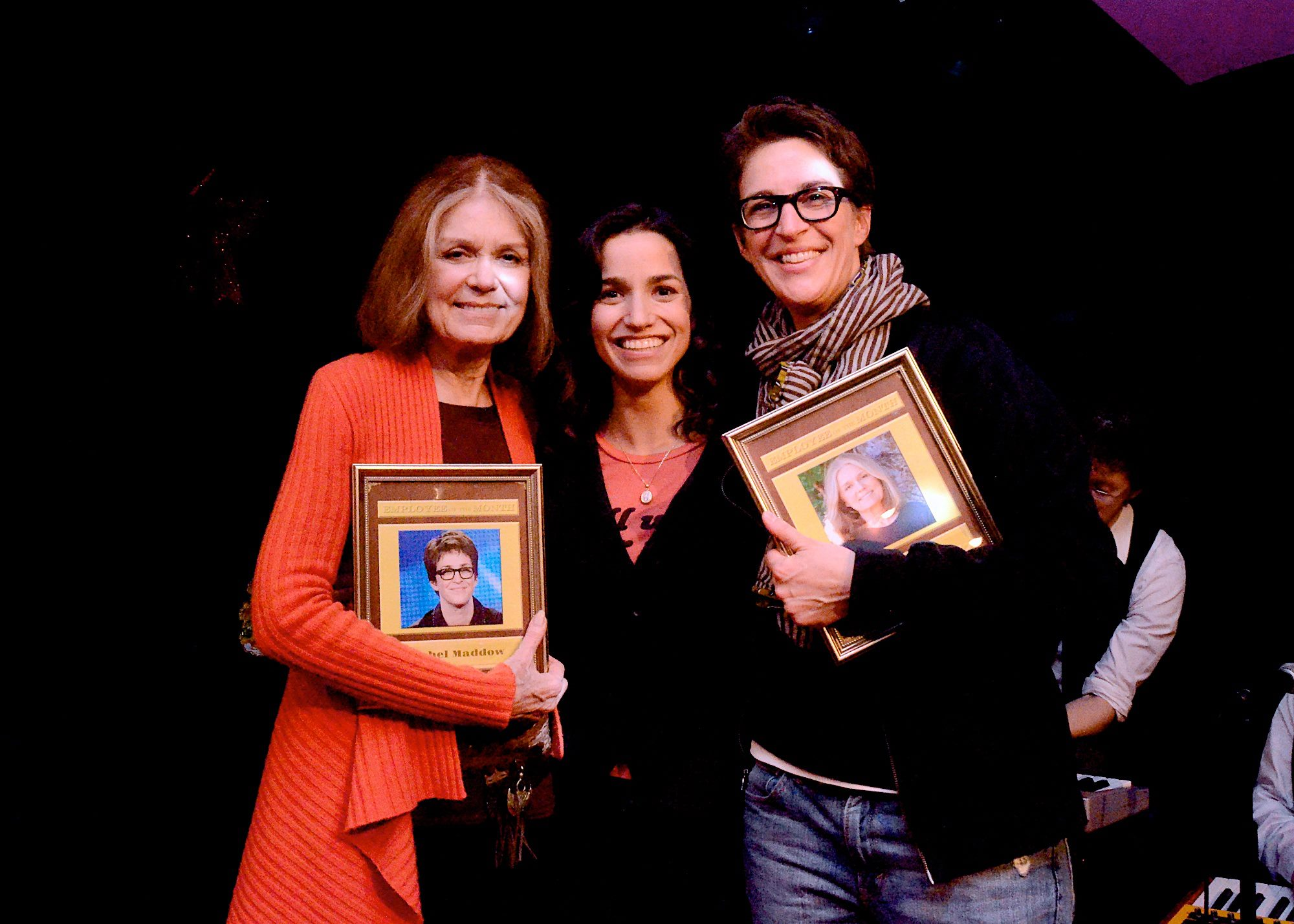 Employee of the Month Alumni Gloria Steinem and Rachel Maddow after another spectacular edition of Employee of the Month