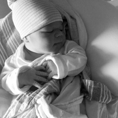A pic of newborn Jayden to accompany Jayden's birth story (BirthMattersNYC blog)