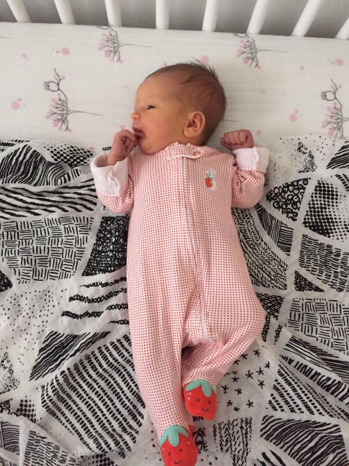 Newborn photo from Birdie's birth story (BirthMattersNYC blog)
