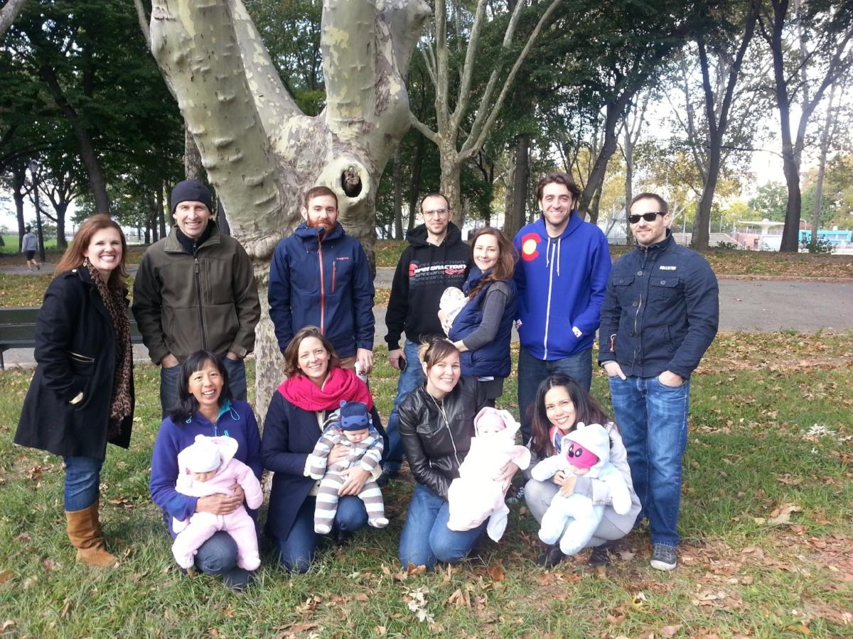 BirthMattersNYC childbirth class reunion in Astoria Park, Queens