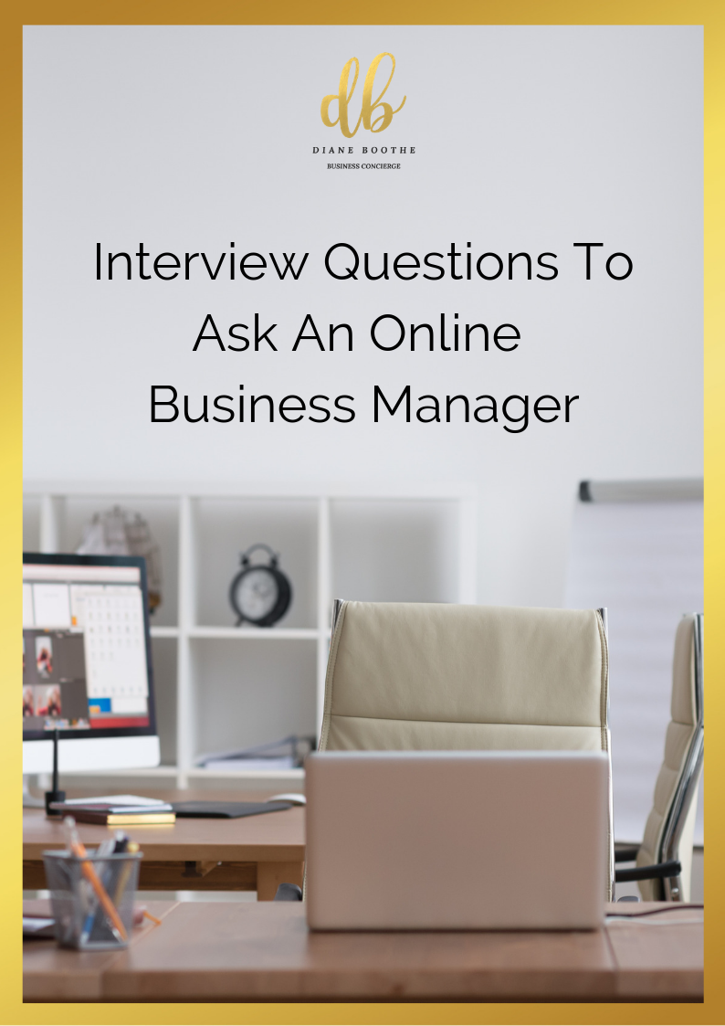 Are you ready to start outsourcing your long to-do list?Check out these interview questions that you can ask an Online Business Manager before you hire them -