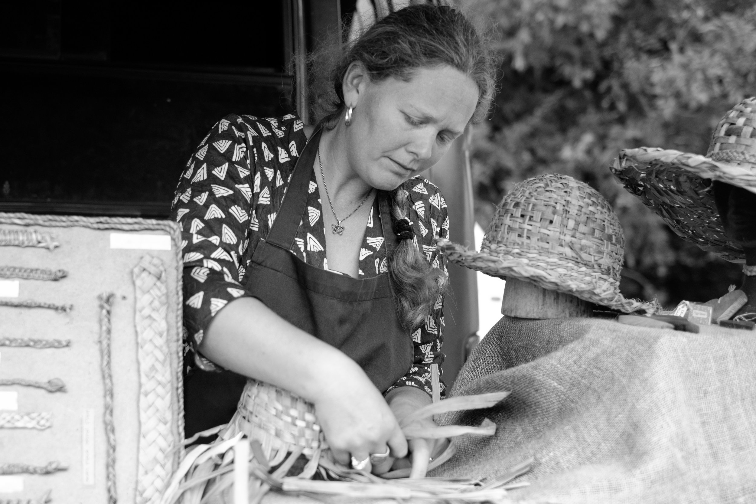 Fiona The Rush Weaver. I always had a soft spot for this photo which I took at Driffield Agricultural Show a few years ago. Fiona is from Wales and can be found on facebook as Peggy Spoons, if you fancy one of those hats.