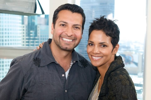 Riaz Patel and Halle Berry honoring the Jenesse Center