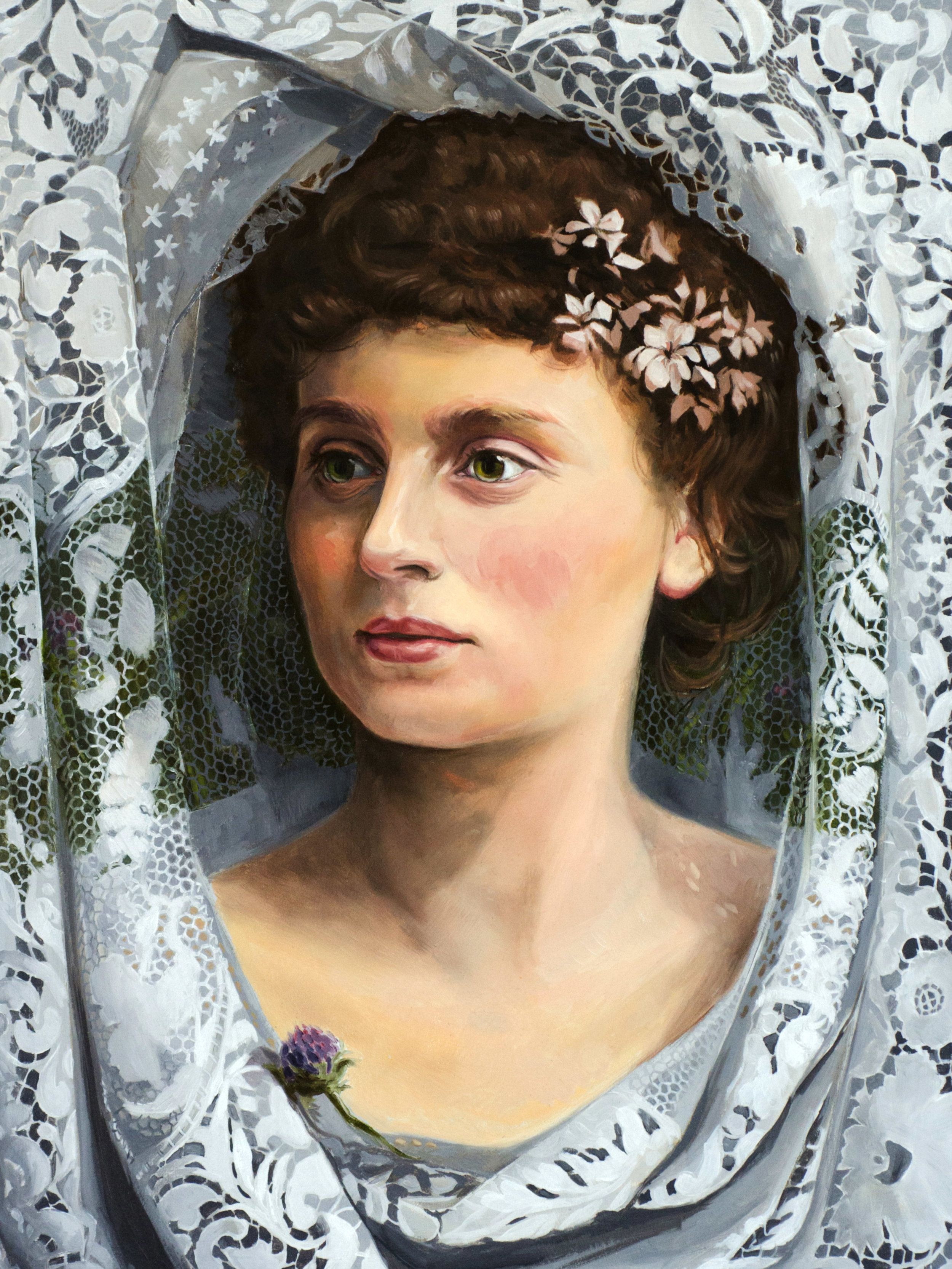 "Lorna Dreams of Glasgow, 1891 | 12x16"" | $1,000"