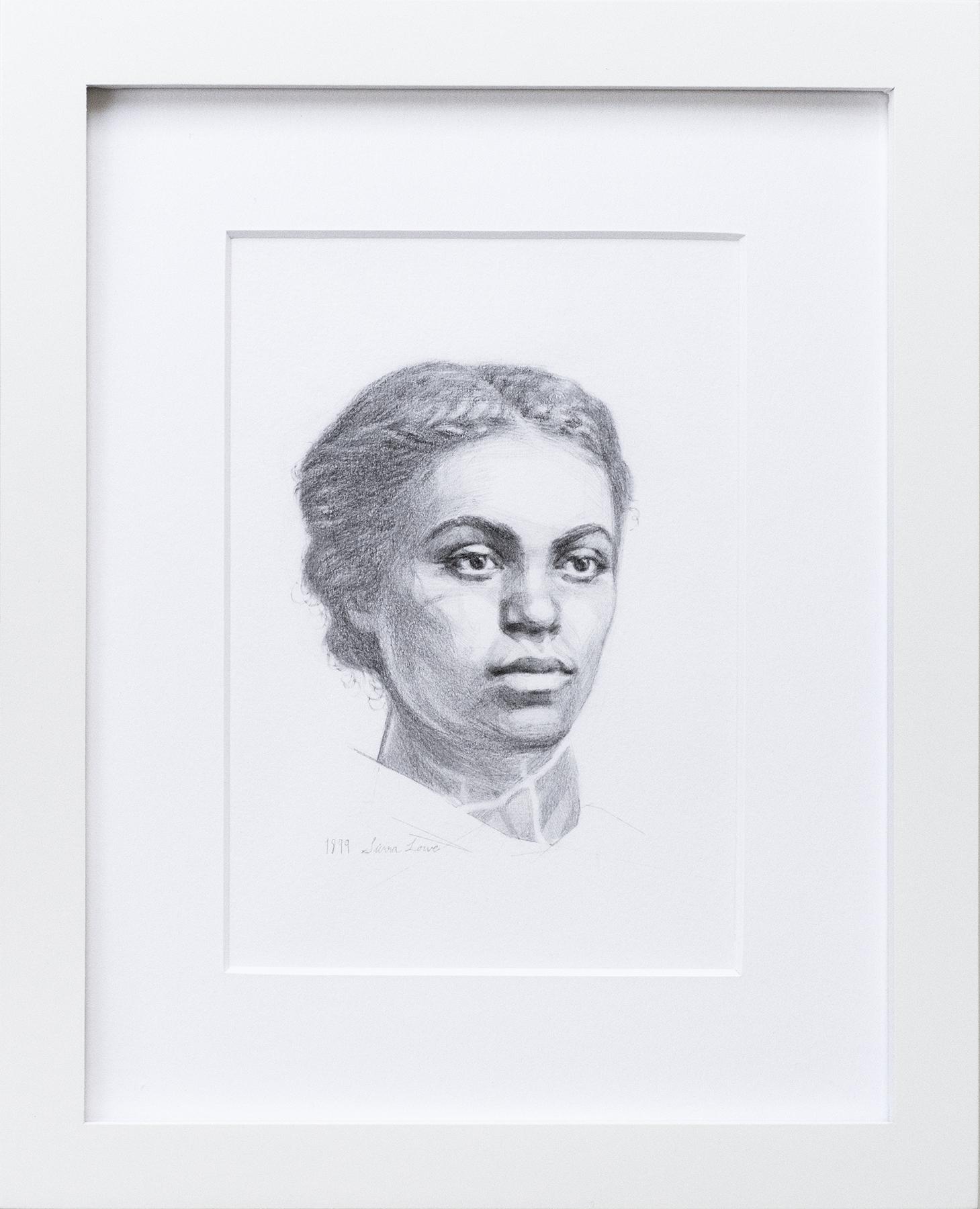 """Della"" c. 1899 Original Graphite Portrait | ON EXHIBIT"