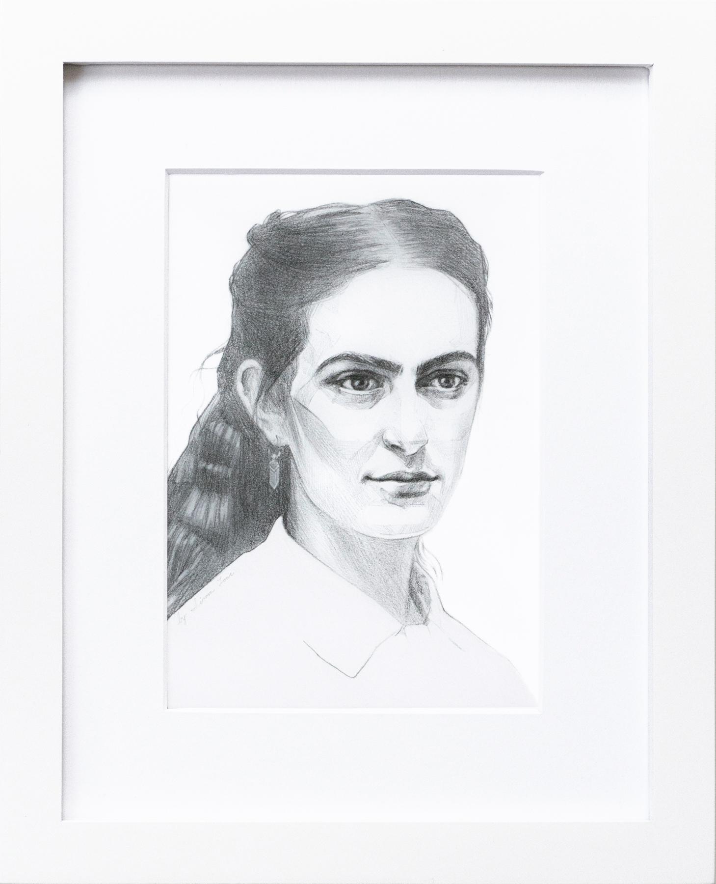 """Delfina"" 1860s Original Graphite Portrait | $180"