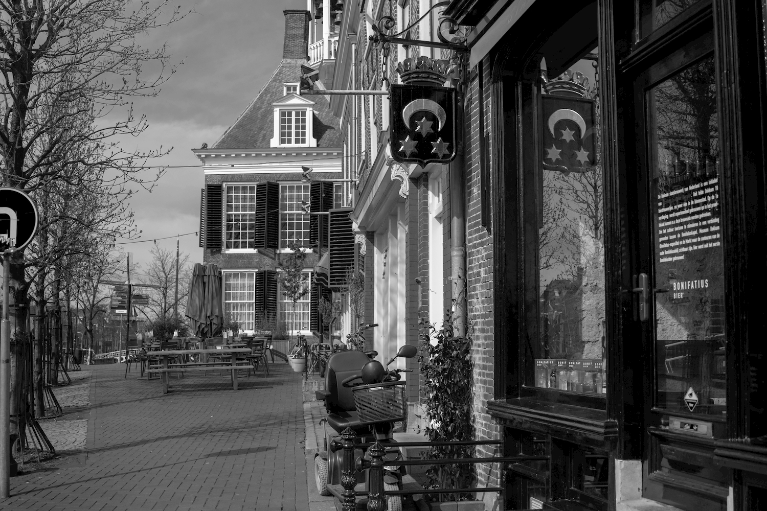 Dokkum centrum straatbeeld