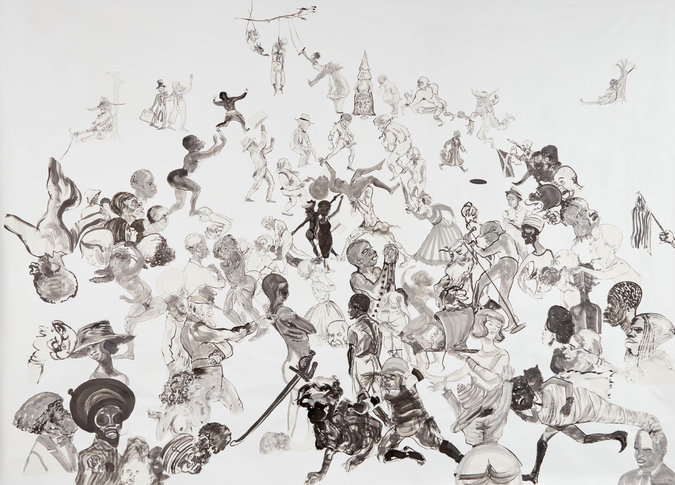 New work by Kara Walker for her upcoming fall show at Sikkema Jenkins