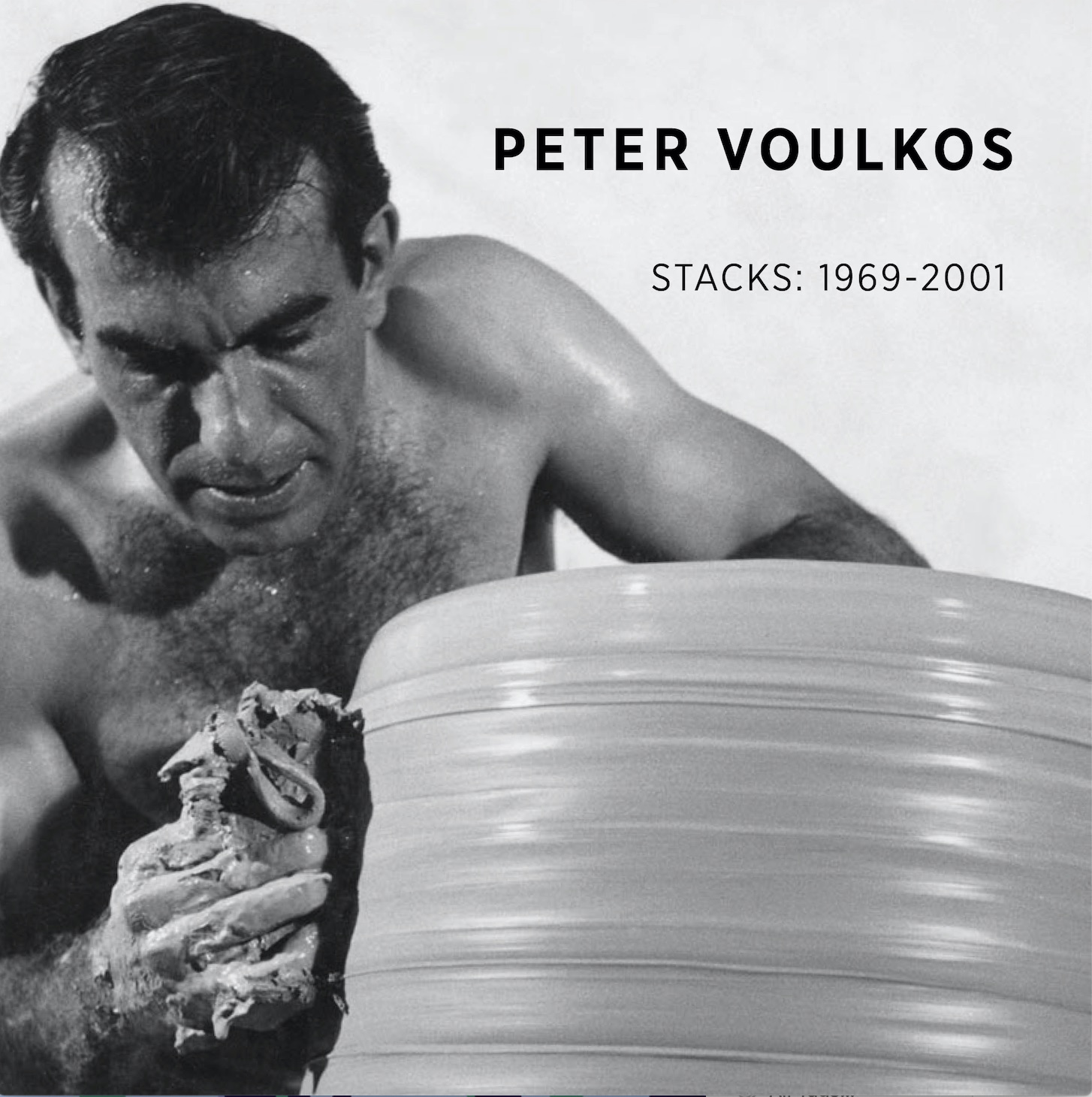Peter Voulkos Burning in Water Ceramic Bronze Stacks