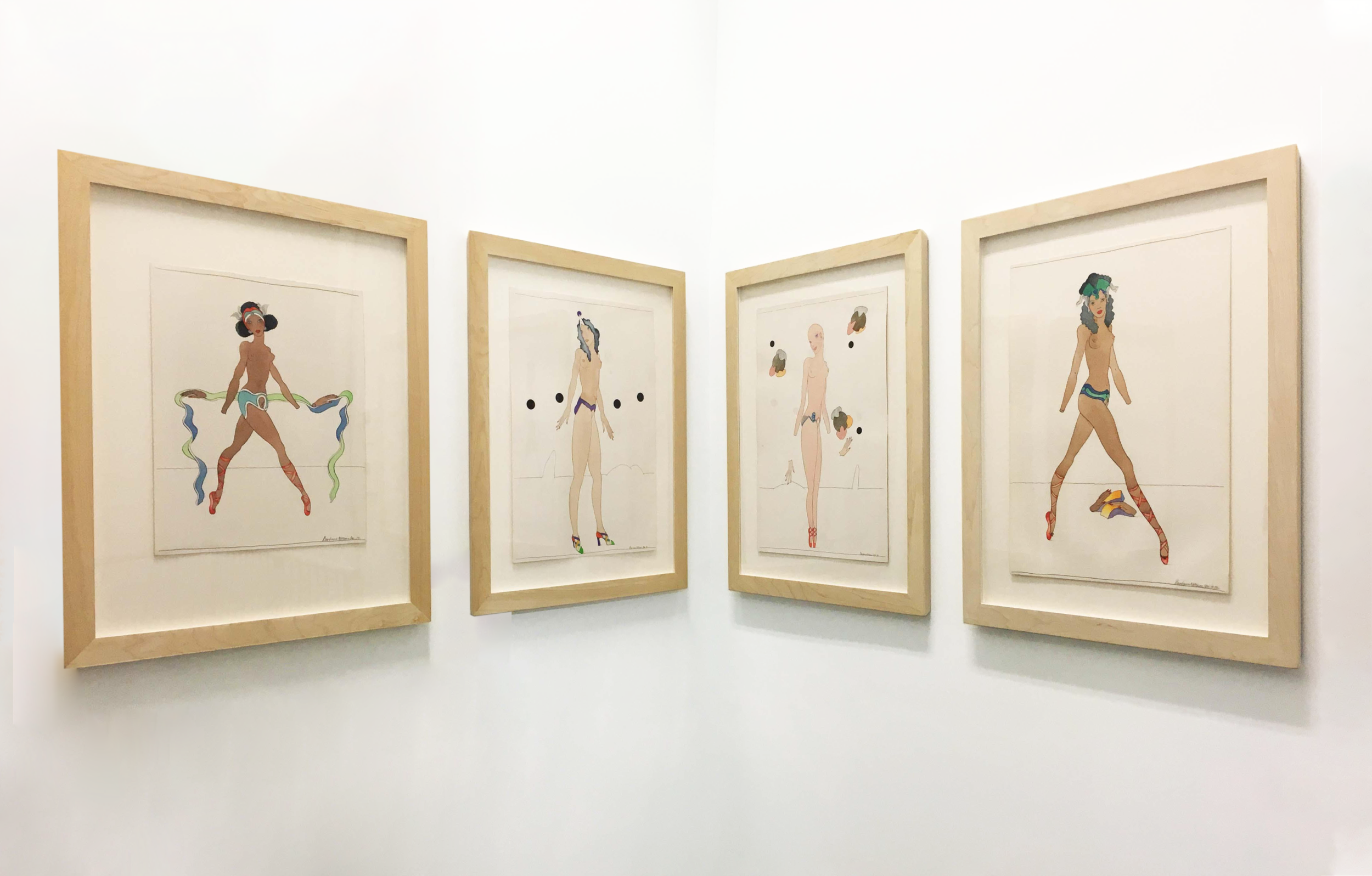 Barbara Nessim,  WomanGirls  installation currently on view at Burning in Water
