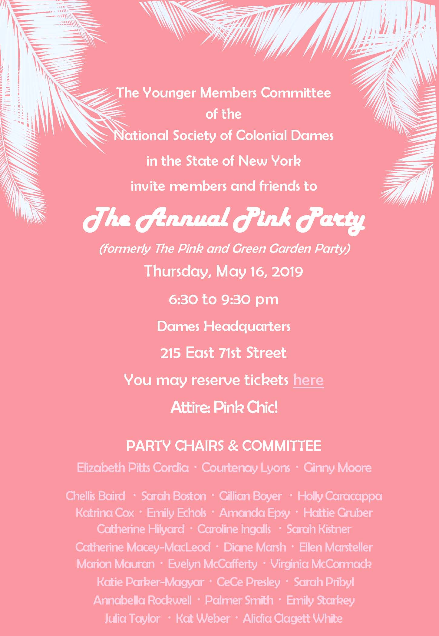 May 16th Colonial Dames Pink Party Invitation.jpg
