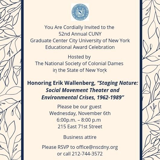 This event is free and open to all NSCDNY members