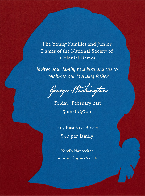 George Washington S Birthday Party The National Society Of Colonial Dames In The State Of New York